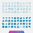 Shopping and money set 2. Trendy thin icons for web and mobile.