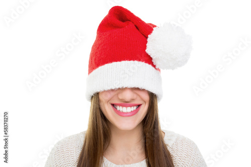 Santa's beanie hat is too big
