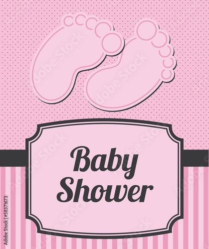 Foto op Aluminium Retro sign Baby Shower