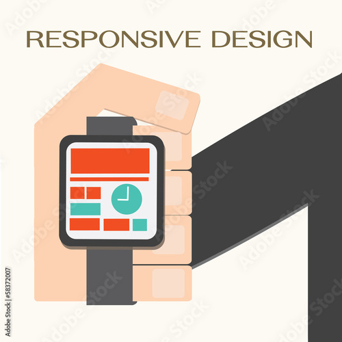 Responsive Web Design,hand with a wrist watch
