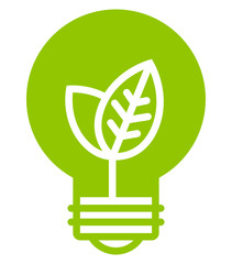 Green ecology light bulb vector icon