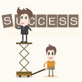 Businessman success assembly