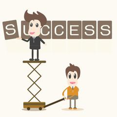 Businessman success assembly