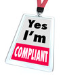 Yes I'm Compliant Badge Rules Regulations Compliance