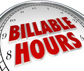 Billable Hours Time Keeping Clock Words Background
