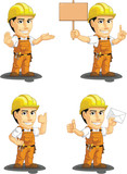 Industrial Construction Worker Mascot 4