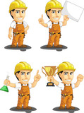Industrial Construction Worker Mascot 5