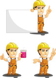 Industrial Construction Worker Mascot 6