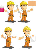 Industrial Construction Worker Mascot 12
