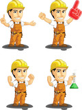 Industrial Construction Worker Mascot 13