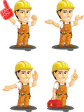 Industrial Construction Worker Mascot 14