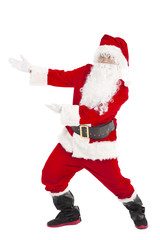 merry Christmas Santa Claus with showing gesture