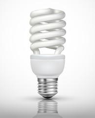 White energy saving lamp