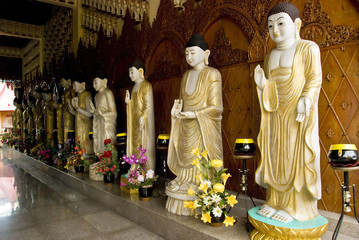 Different Images of Buddha, Dhammikarama Burmese Temple, Penang