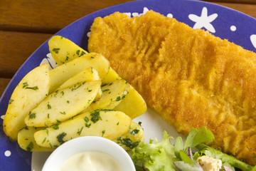 Kipfler Potatoes And Fish