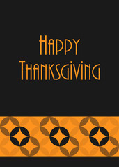 thanksgiving greeting card, special vector design, eps10