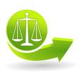 justice sur symbole vert