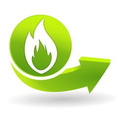feu sur symbole vert