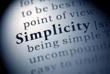 Simplicity poster