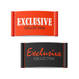 Exclusive collection clothing labels