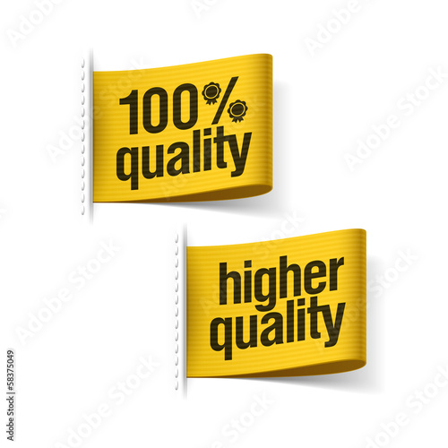 100% higher quality product labels