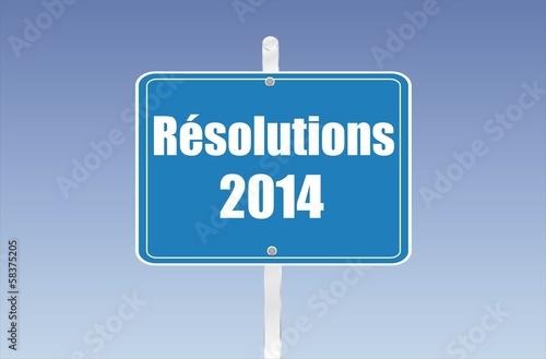 panneau résolutions 2014