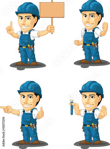 Technician or Repairman Mascot 9