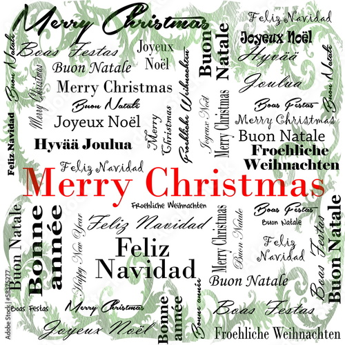 Merry Christmas words in many languages