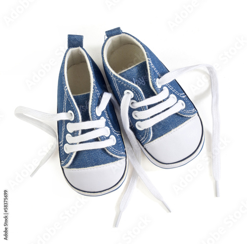 canvas print picture baby shoes