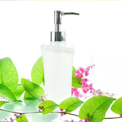 White pump bottle