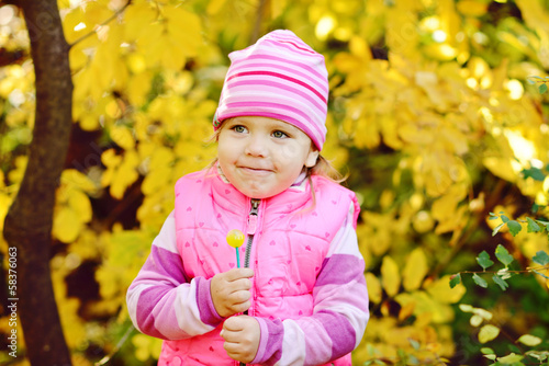 happy child with lollipop