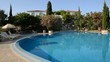 The swimming pool, sunbeds at luxury hotel, Peloponnes, Greece