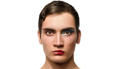 Man wearing make up, Portrait of a drag queen