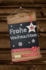 Tafel  Frohe Weihnachten
