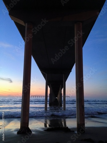 Ocean Beach Pier from Below San Diego California United States