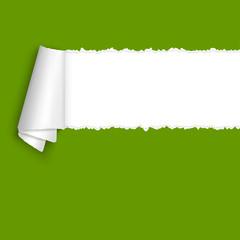 aufgerissenes Papier mit Textfreiraum