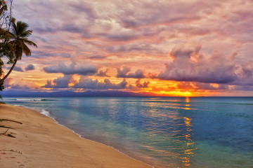 Caribbean beach sunset