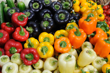 Colorful bell peppers