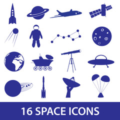 space icon set eps10