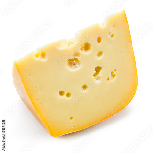 Cheese. Piece isolated on white background