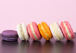canvas print picture - Macarons