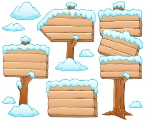 Wooden signboard theme image 5
