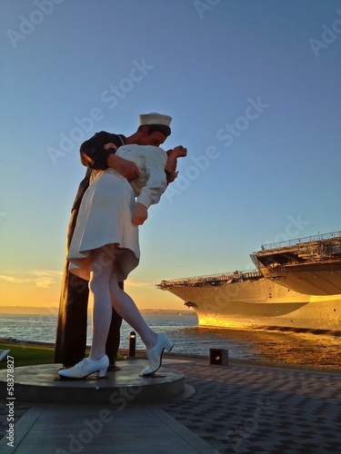 Kissing Statue Unconditional Surrender in San Diego Harbor