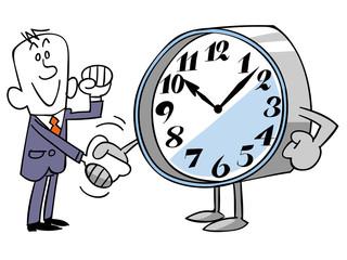 時間と良い関係を築くビジネスマン