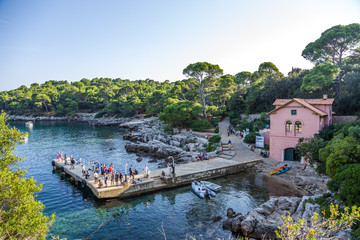 Croatia. Moorings at the Lokrum island