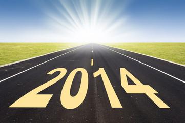 2014, route et soleil