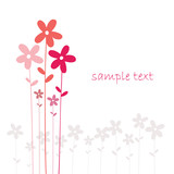 vector flowers background