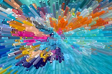 Fond multicolore - Eclats de barre