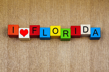 I Love Florida - vacation destination, America