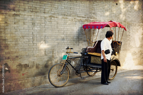 Typical Asian rickshaw